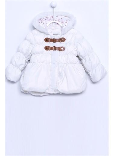 Silversun Kids Kürklü Şapkalı Şişme Bebek Kız Mont Mc 7167 Ekru